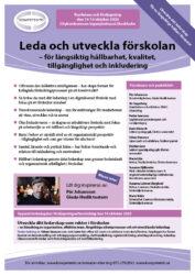 Broschyr och program till konferensen Leda och utveckla förskolan hos Kompetento