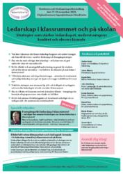 Broschyr och program till konferensen Ledarskap i klassrummet och på skolan hos Kompetento