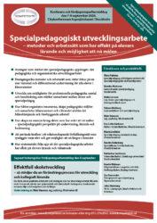 Broschyr och program till konferensen Specialpedagogiskt utvecklingsarbete hos Kompetento
