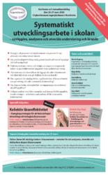 Broschyr och program till konferensen Systematiskt utvecklingsarbete i skolan hos Kompetento
